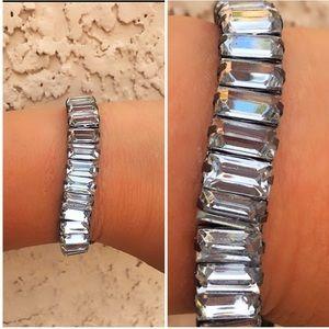 Jewelry - Vintage Crystal Baguette Rhinestone Chain Bracelet